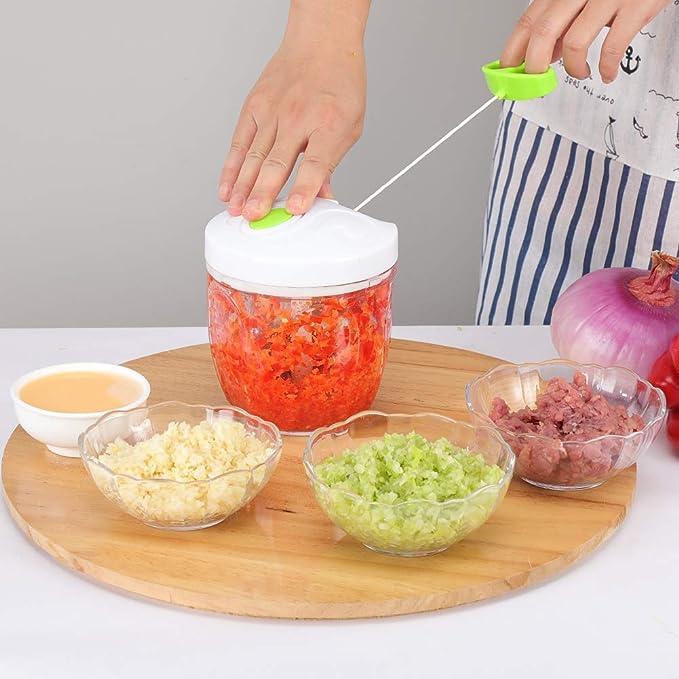 viande herbes Jeslon Hachoir//coupeur de nourriture /à la main hachoir /à oignon rotatif pour ail fruits m/élangeur de m/élangeur de hachoir /à nourriture facile /à nettoyer salade