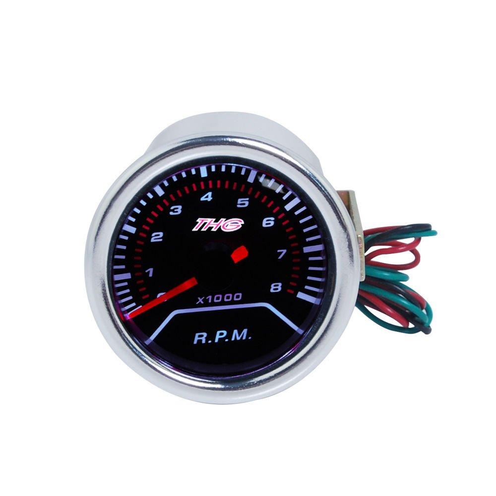 temperatura del agua THG Presi/ón de aceite Boost Volt para coche digital LED Gauge con el logotipo CAR8022T Cubo
