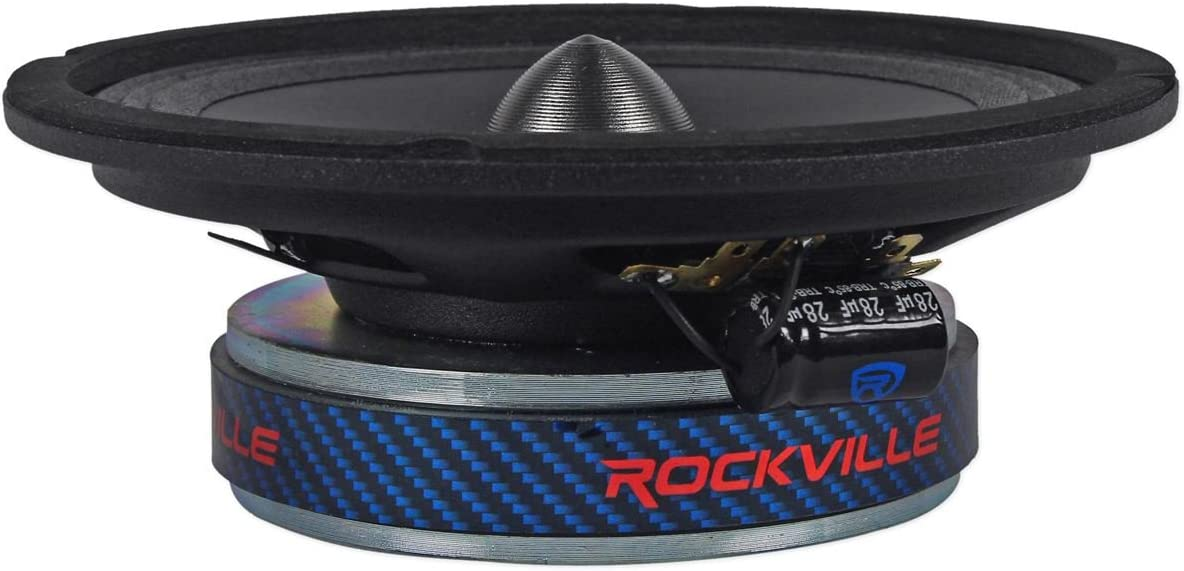 Rockville RXM64 6.5 300w 4 Ohm Mid-Range Drivers Car Speakers Mid-Bass 2