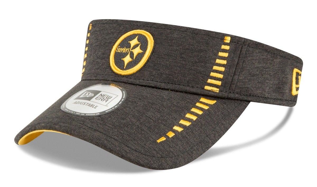 5b100fa7b1b Amazon.com   New Era Pittsburgh Steelers NFL Shadow Speed Performance  Adjustable Visor   Sports   Outdoors