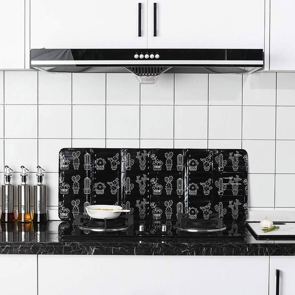 Escudo protector de cocina, protector antisalpicaduras, aislamiento de aceite, placa de aluminio a prueba de salpicaduras de aceite, estufa de 3 lados (negro/blanco), negro, 84.5x32.5x0.08cm: Amazon.es: Hogar