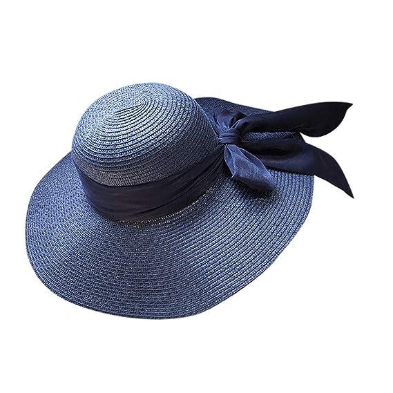 TUDUZ Mujer Sombrero Al Aire Libre Gorra Plegable Sombrero De Paja ...
