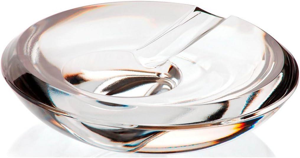 CRISTALICA Aschenbecher Ascher aus Kristall Zigarre Zigarette Casablanca D 15 cm