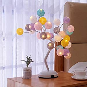 BAYCHEER Tabletop Romantic Starry Tree Light Girls Bedroom Desk Table Decor Night Light Desk lamp Decoration for Gift Home Wedding Festival Holiday (Battery/USB Operated)