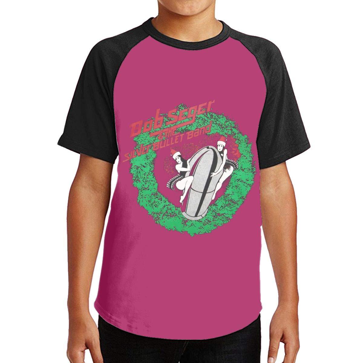 Bob Seger The Silver Bullet Band Comfortable Girls Crewneck Short Sleeve 2145 Shirts