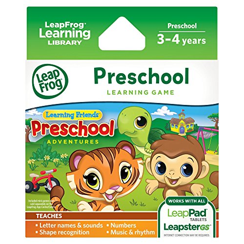 - LeapFrog Learning Friends: Preschool Adventures Learning Game (for LeapPad3, LeapPad2, LeapPad1, Leapster Explorer, LeapsterGS Explorer)