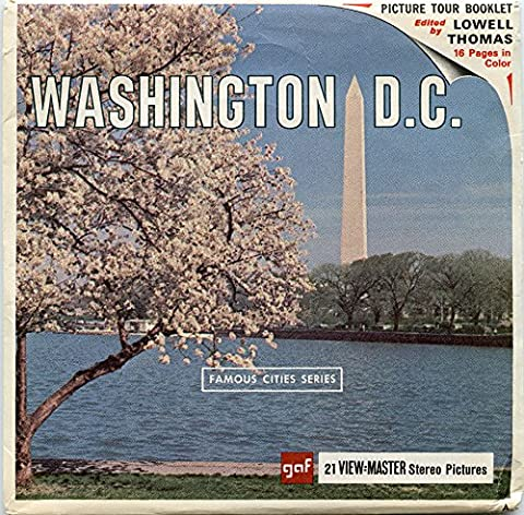 Classic ViewMaster - United States Travel - Famous Cities Series - Washington, D.C.- ViewMaster Reels 3D - Unsold store stock - never (Viewfinder Series 3)