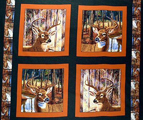 Deer Fabric Pillow Panel Buckaroo Sold By the Panel