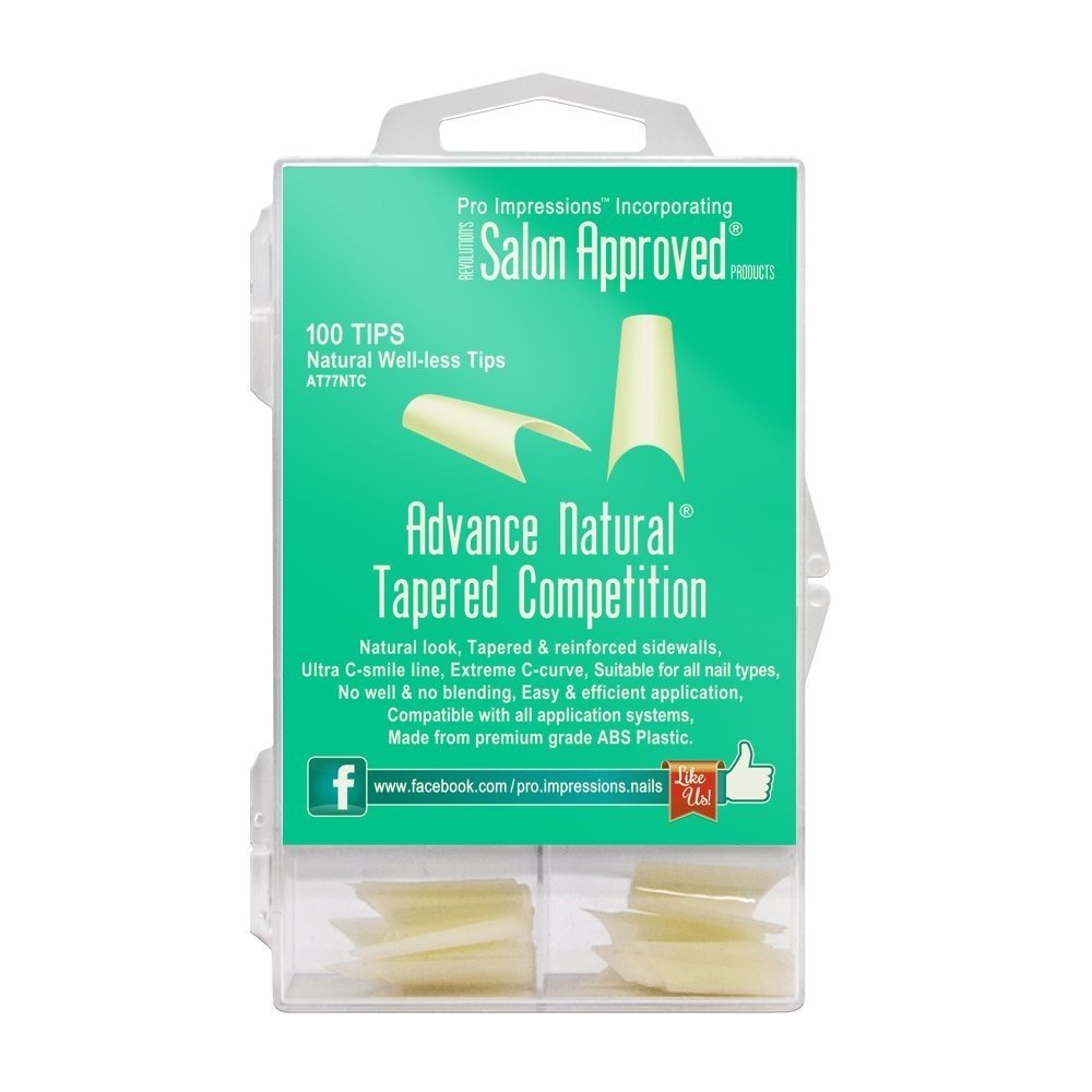 Advance Natural Tapered Competition Nail Tips Proimpressions (100 ...