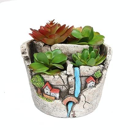 Pot De Dessin Animé Ciment Succulent Plante Pots Cactus