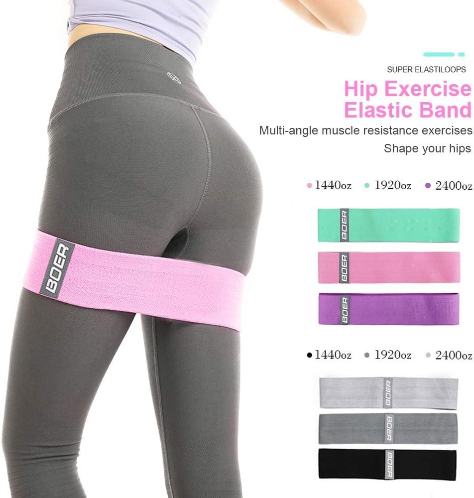ECYC Bande De R/éSistance avec Poign/éEs P/éDale pour Gym Home Fitness Yoga Workout Formation Bandes /éLastiques pour Bras Taille Jambe Presse Muscle Exercice