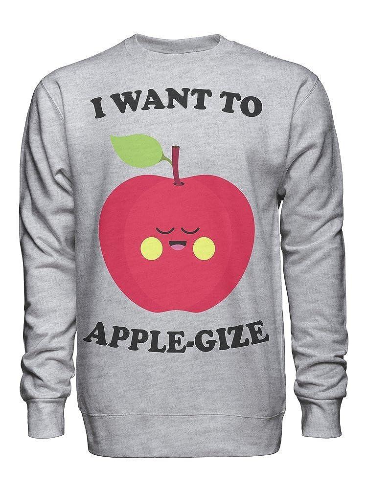 I Want to Apple-Gize Sad Apple Unisex Crew Neck Sweatshirt