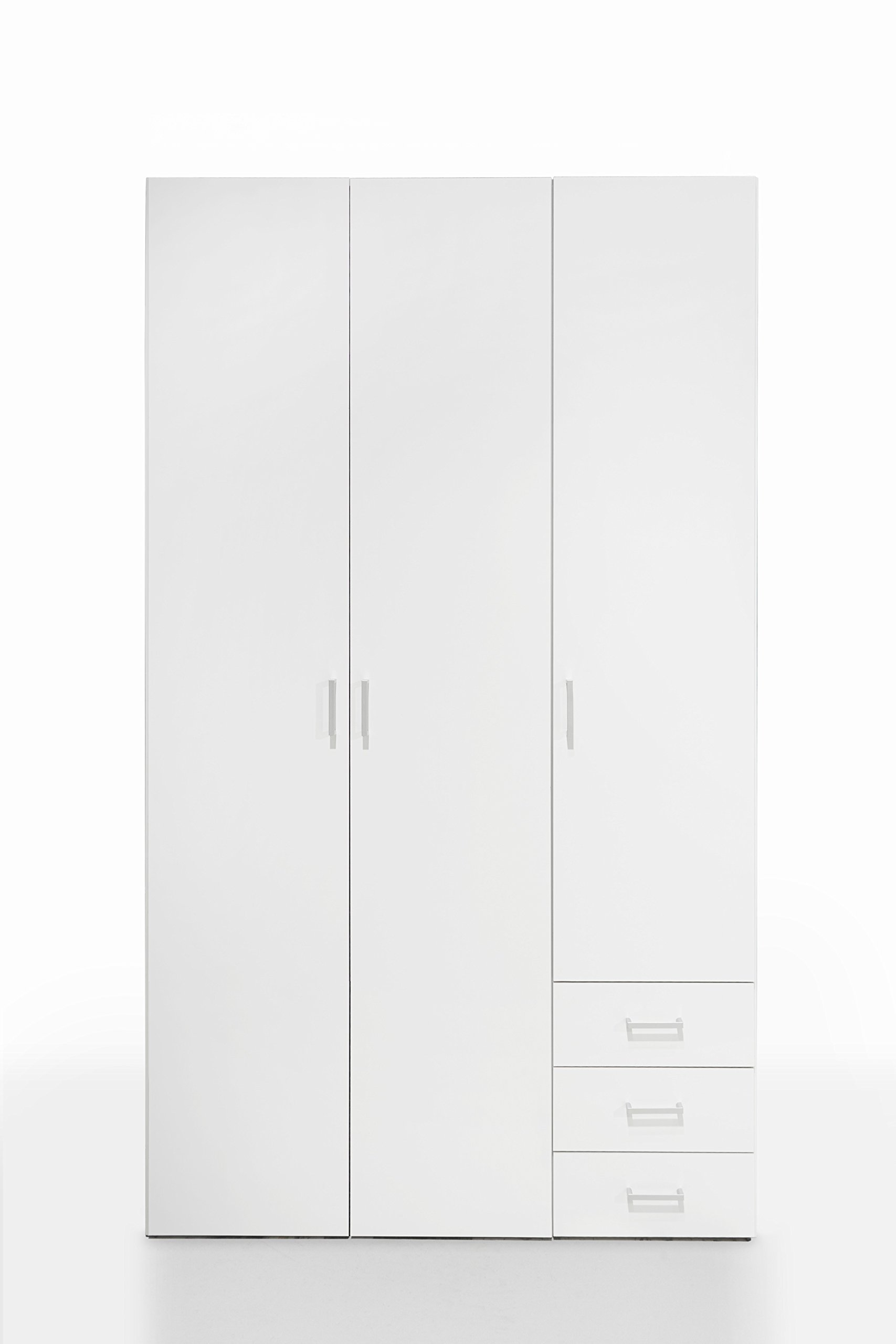 Tvilum 704094949 Space 3 Drawer and and 3 Door Wardrobe, White