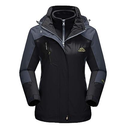 e5be0fce7 MAGCOMSEN Womens Softshell Jacket Winter Jackets Waterproof Jacket Outdoor  Windproof Windbreaker Anorak Jacket Black