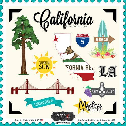 California Sightseeing Scrapbook Stickers (60307) ()