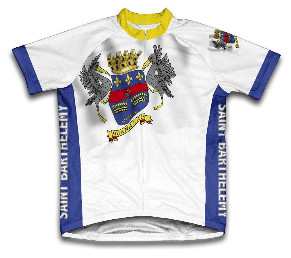 Saint Barthelemy Flag Radsport Trikot mit kurzer Ärmel für Frau