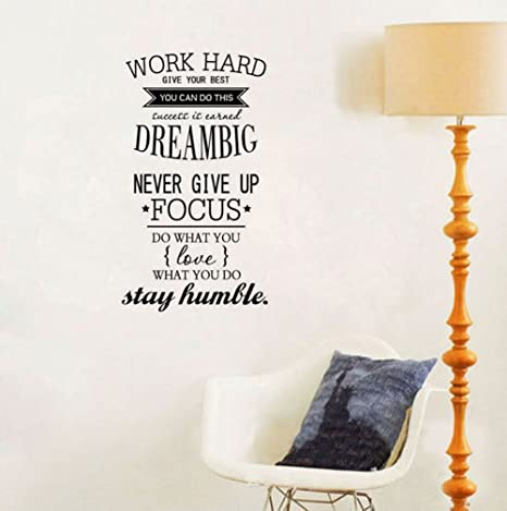 Amazon Com Ducklingup Wall Decal Quote Work Hard Dream Big Never