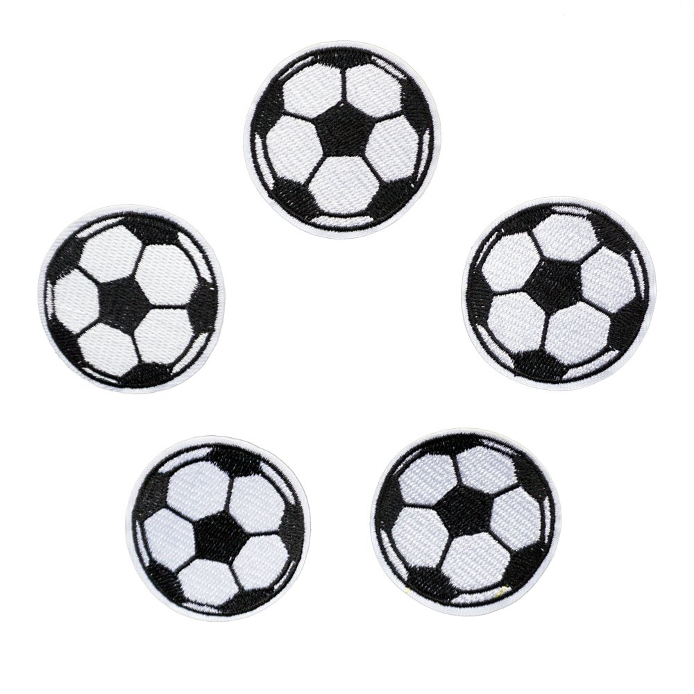 5pcs Ball Patches Soccer Ball Football Iron on Patches for Kids Jeans Clothing Kids Sew on Jacket Backpack Scarf Applique DIY Craft Shoulashou