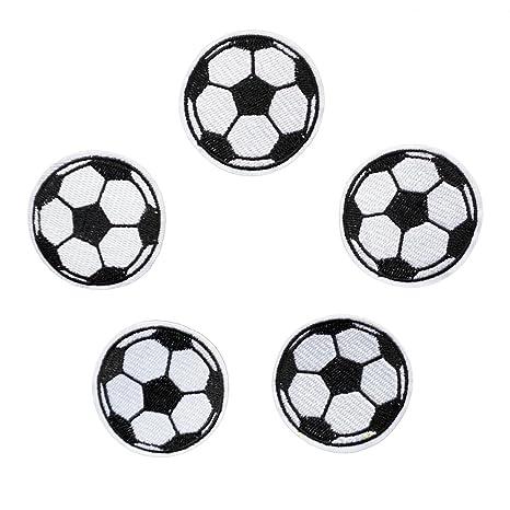 5pcs bola parches hierro en parches de fútbol de balón de fútbol para niños pantalones vaqueros