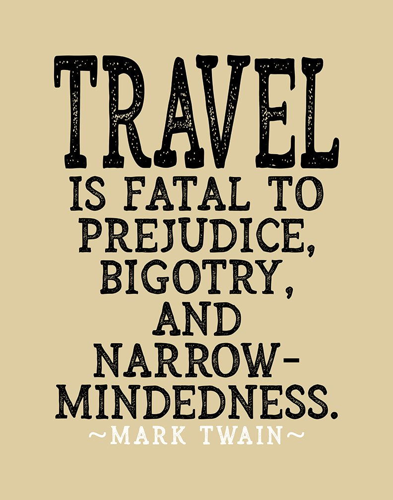 Amazon.com: Mark Twain Travel Quote \