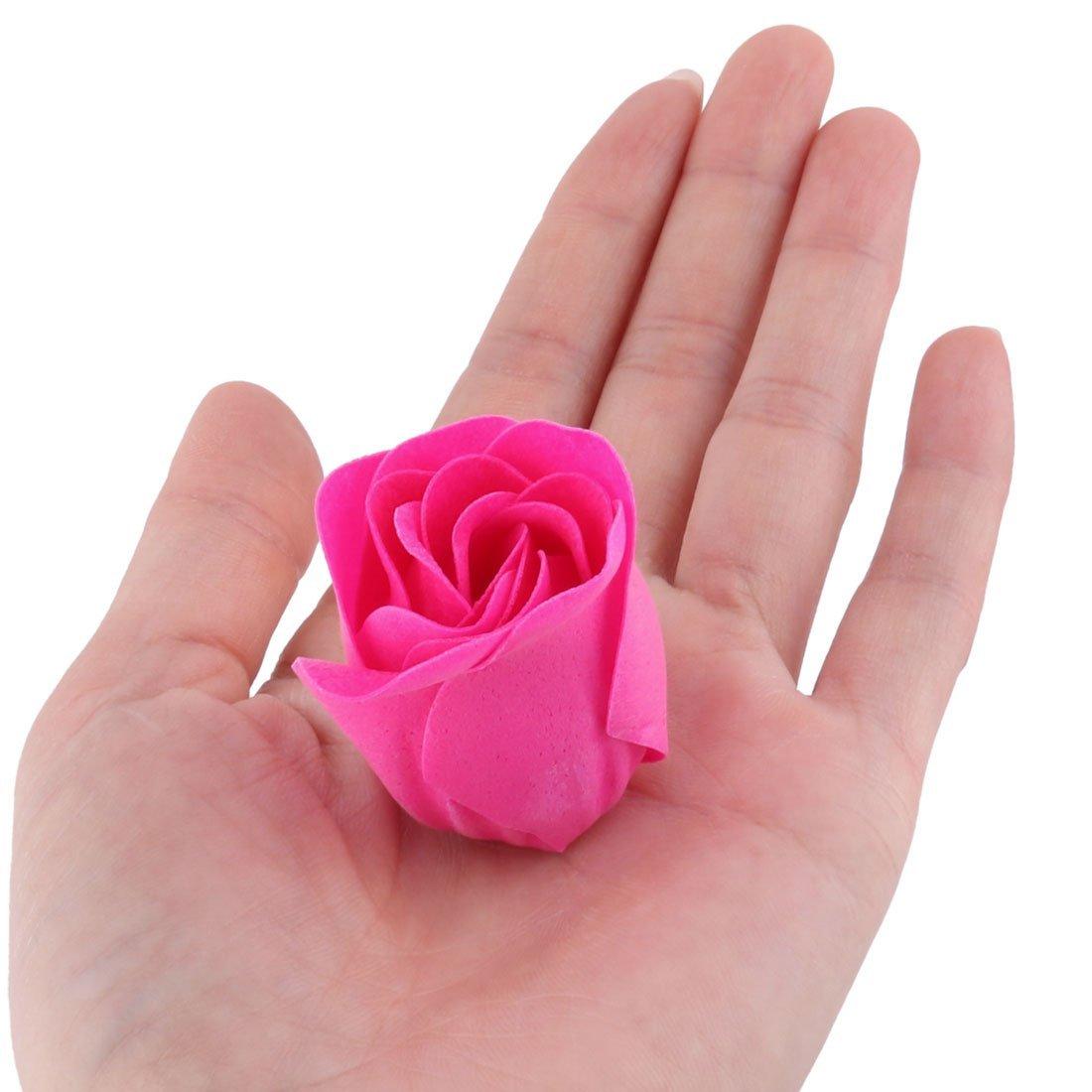 eDealMax Festival de cadeaux Coeur Conçu Boîte artificielle Rose Décor Fleur Gel Douche Savon Pétale 28pcs