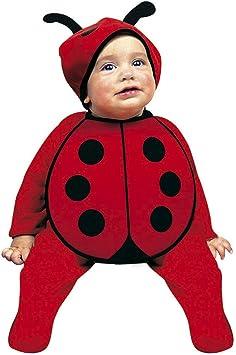 Adorable disfraz para bebe mariquita | Rojo-Negro en talla 75 - 80 ...