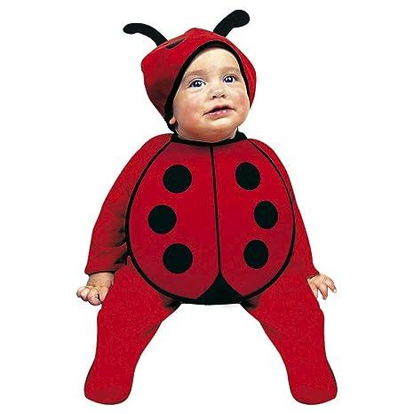 ea1abbbbe856 Grazioso costume da coccinella per neonato | Rosso-Nero in taglia 75 - 80  cm, ...