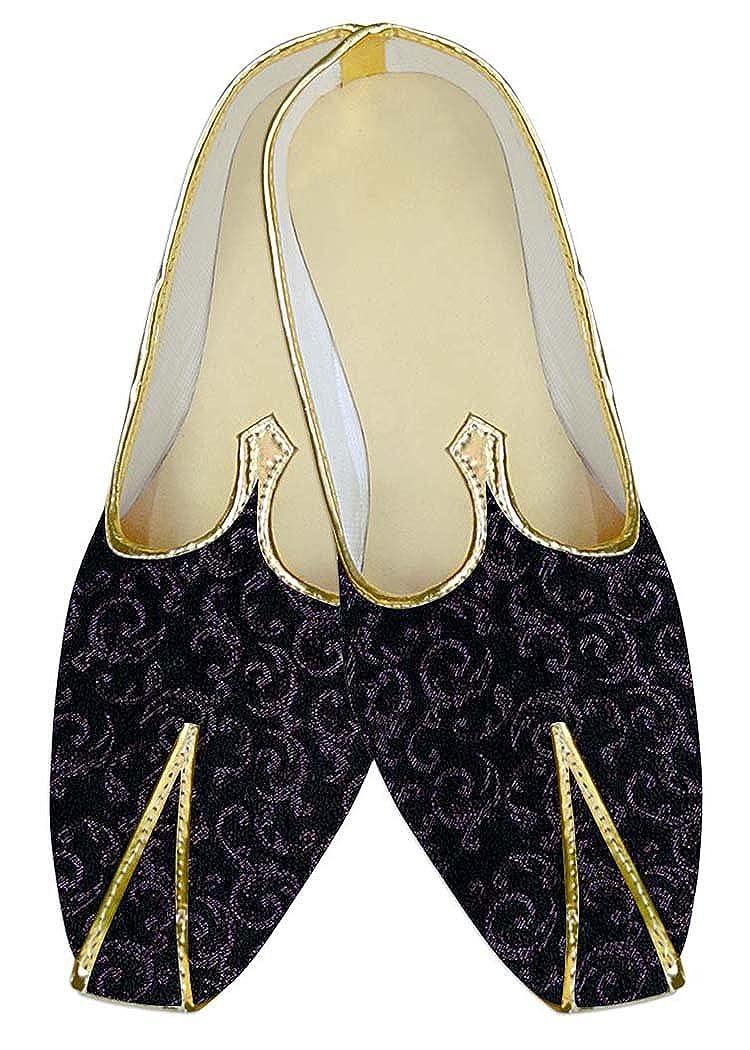 INMONARCH Hombres Poliéster Negro Zapatos de Boda Para Ropa de Fiesta MJ11127 44.5 EU