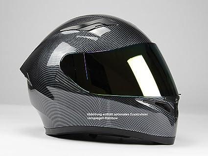 55//56 , Carbon Optik ohne Zusatzvisier S XXL BNO Integralhelm F600 Schwarz Carrbon Optik Gr/ö/ße S