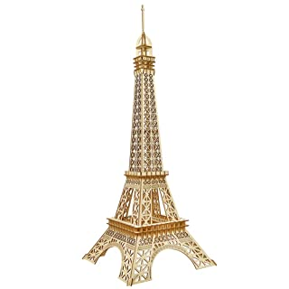 Eiffel Tower 3D Puzzle Wooden DIY Building Model Safe and Environmentally Friendly TZZ