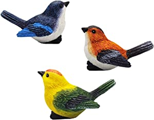 MAOMIA Miniature Bird Decorative Figurines 3 Pcs Bird Figures Animal Model Toys Fairy Garden Decoration Plant Flower Pots Ornaments