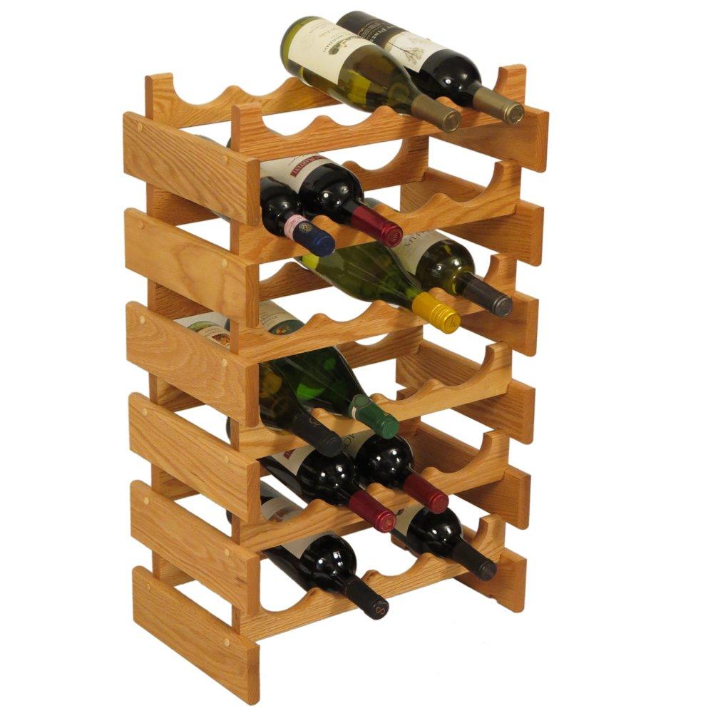SKB family 24 Bottle Dakota Wine Storage Rack, 17.625'' x 28.375'' x 10.75'' x 8 lbs, Unfinished by SKB family (Image #3)