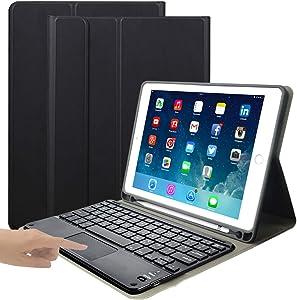 iPad Keyboard Case for iPad Mini 4/iPad Mini 5 -Eoso iPad Cover with Keyboard Built-in Touchpad & Pencil Holder (7.9