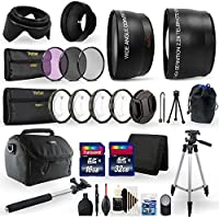 Accessory Kit for Canon EOS 80D Digital SLR with 58mm Fisheye Telephoto + Wide Angle Lens + Filter + Macro Kit + 48GB Memory Card + Top Accessory Kit