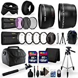 Canon EOS Rebel T5i Digital SLR Camera Accessories. Bundle Includes: Gadget Bag, Telephoto Wide Angle Lenses, Tripod, 48GB Memory, Shutter Remote and Much More!