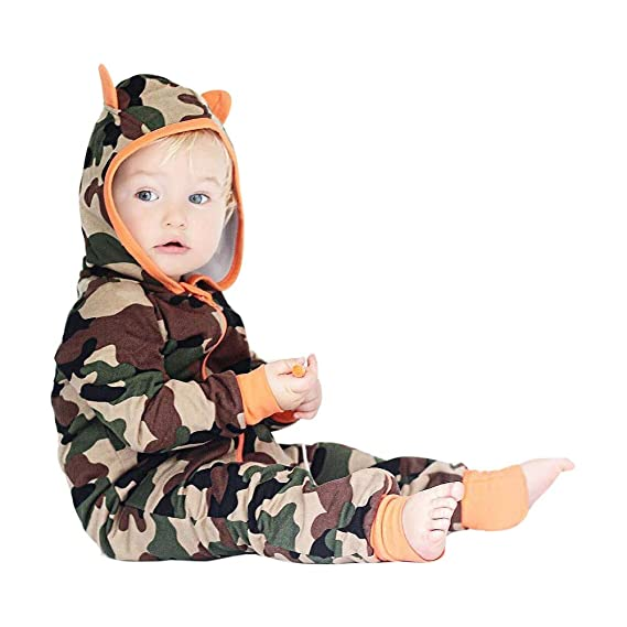 Amazon.com: Tronet Baby Boy Girl Camouflage Tops, Newborn Infant ...