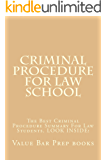 Criminal Procedure For Law School (Borrowers Can Read Free - Just Click): e book (English Edition)