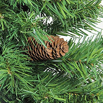 "Northlight 3' x 22"" Dakota Red Pine Full Artificial Christmas Tree with Pine Cones - Unlit"