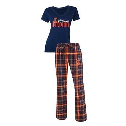 b39ba4c6183 Concepts Sport University of Illinois Pajamas Women s Sleepwear Pajama Set  (X-Large)