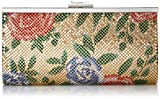 Jessica McClintock Laura Floral Mesh Framed Clutch, Gold/Floral Print