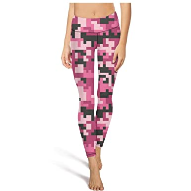 9052e92a2a38b9 Image Unavailable. Image not available for. Color: Mackiintion Women's Pink  camo Yoga Pants Sports Workout ...