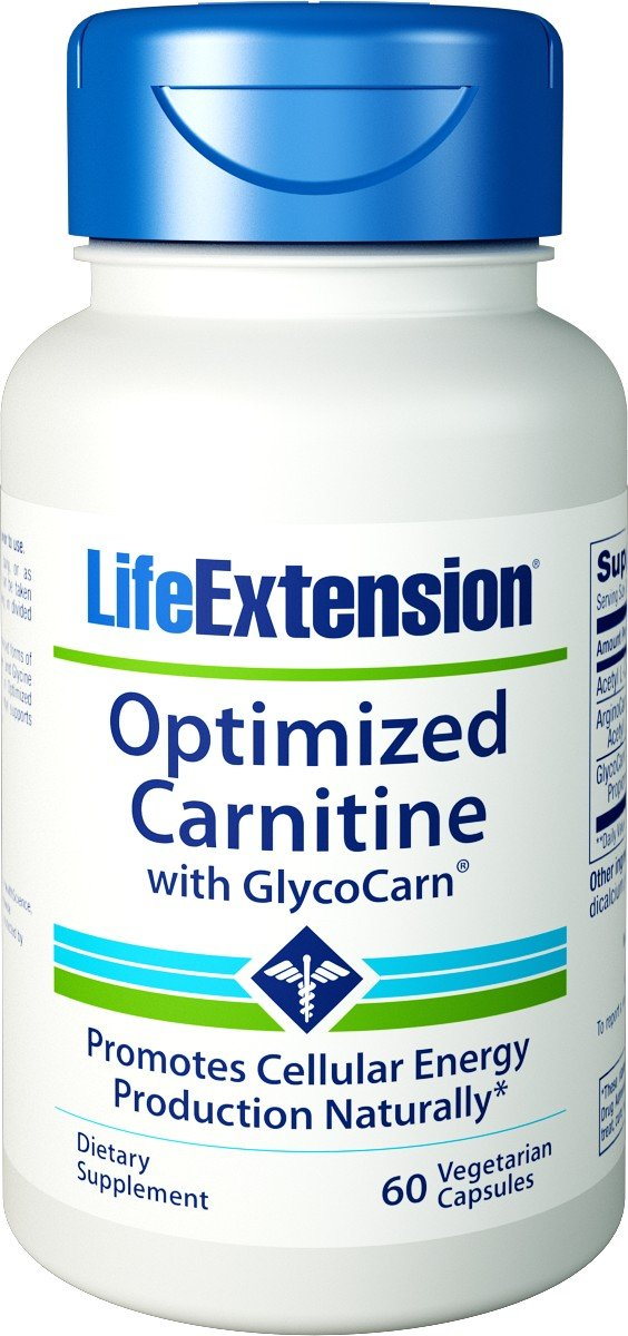 Life Extension - Optimized Carnitine 60 vcaps (Pack of 4)
