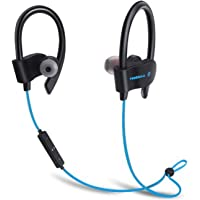 FREESOLO Wireless Bluetooth 4.1 In-Ear Noise Isolating Blue Sport Earbuds with Mic and Controller, Sweatproof