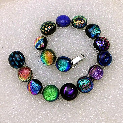 - Dichroic Glass Bracelet in 16 Power Colors 7 1/4