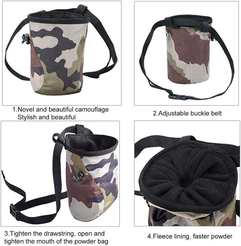 Magnesiabeutel Set zum Bouldern und Klettern f/ür maximalen Grip beim Klettern Chalk bag Chalk Bouldern