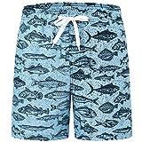 Akula Big Boys Swim Trunks Beach Board Shorts with Pockets