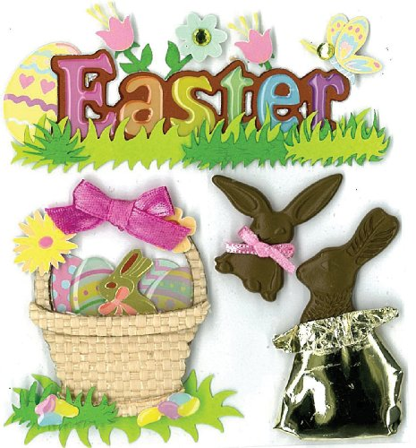Jolee's Boutique Easter Chocolate Bunnies Dimensional Stickers (Easter Bunny Crafts)