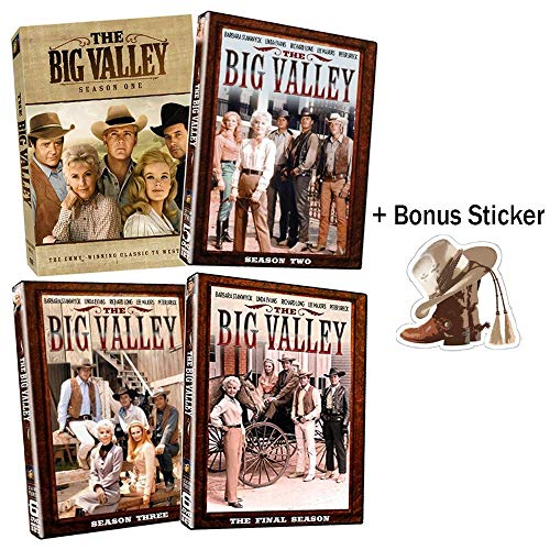 (The Big Valley: Complete Classic Western TV Series Seasons 1-4 DVD Collection + Bonus Sticker)