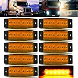 led amber lights - AUDEW 10 Pcs 3.8'' 6 LED Amber Side Marker Light Trailer Marker Lights Rear Side Marker Lights Indicator Lights for Truck Bus Boat Cab Rv Lorrieds Jeep Suv