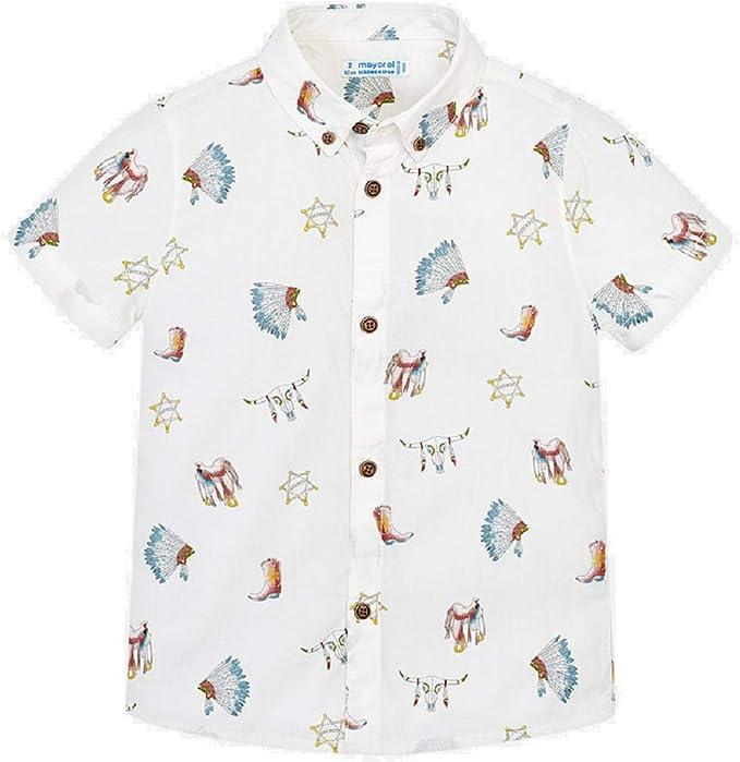Mayoral Camisa Manga Corta Estampada niño Modelo 3133: Amazon.es ...